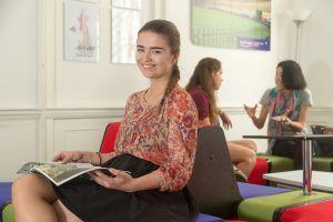 Sprachschule Bath, Kaplan International England, Aufenthaltsraum
