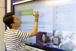 Sprachschule Oxford, Kaplan International England, Interactive Whiteboard 2