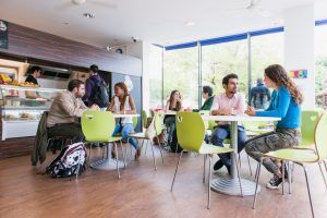 Sprachschule Oxford, Kaplan International England, Cafe