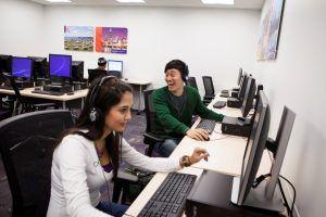 Sprachreise Chicago, Sprachschule Kaplan International USA, Computerrraum