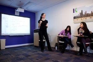 Sprachreise Chicago, Sprachschule Kaplan International USA, Klassenzimmer