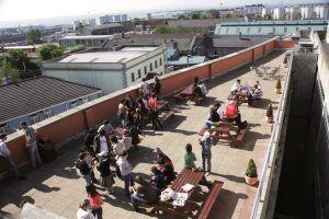 Sprachschule Atlantic Language Galway, Irland, Sprachreise, Sprachkurs, Terrasse
