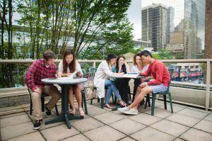 Sprachreise Vancouver, Sprachschule Kaplan International Kanada, Balkon