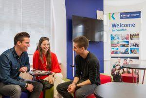 Sprachschule London Leicester Square, Kaplan International England, Aufenthaltsraum