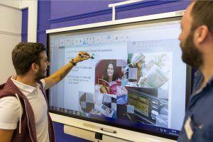Sprachschule Oxford, Kaplan International England, Interactive Whiteboad 1