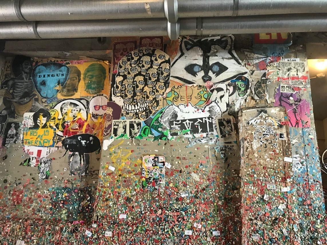 Sprachreise Seattle Gum Wall