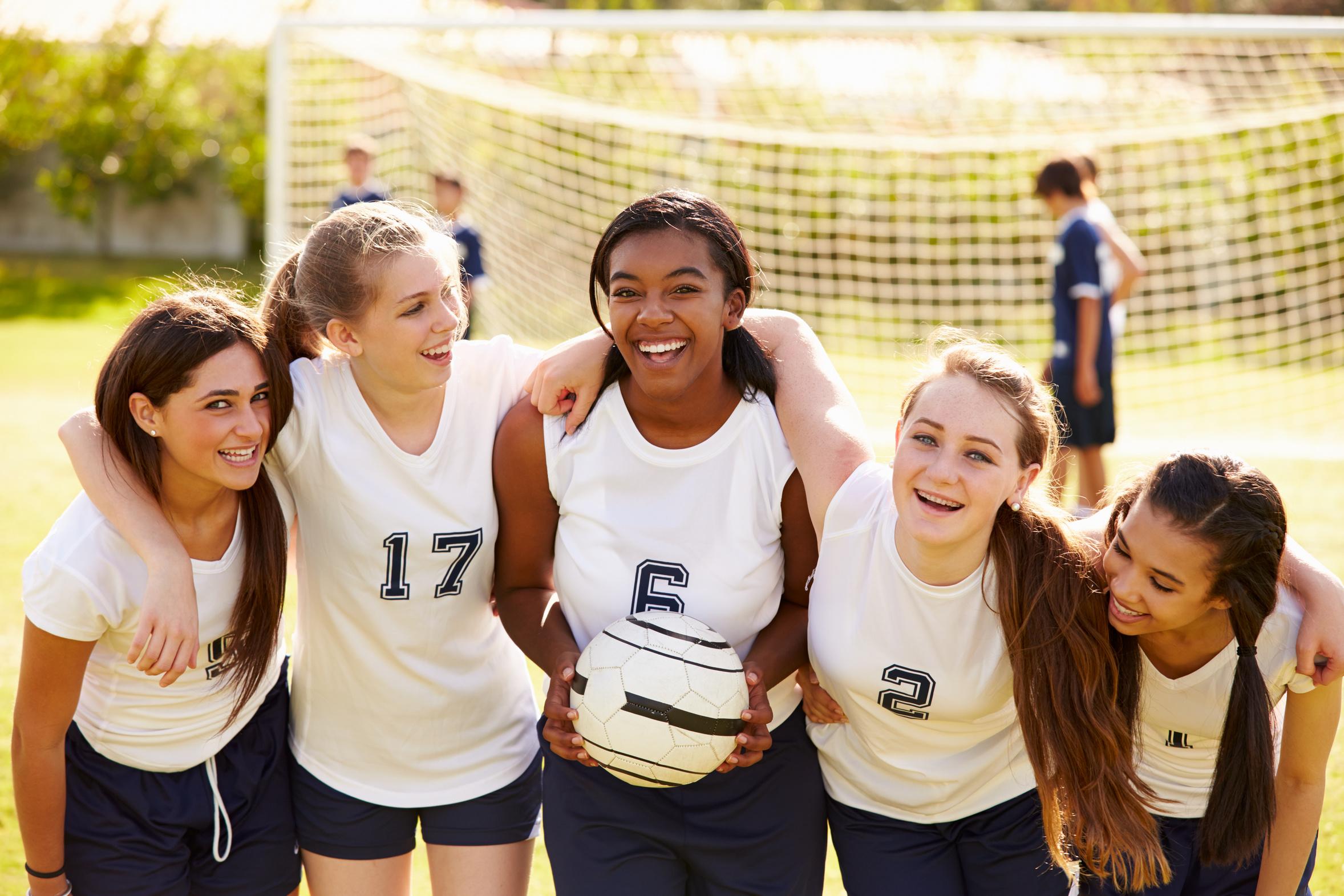 High School-Aufenthalt USA Gruppe Soccer Team