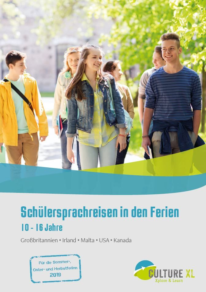 Schülersprachreisen Cover 2019