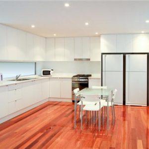 Küche und Essbereich Geteilte Studentenwohnung Praktikum Australien